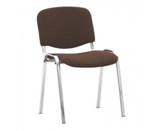Konferenčná stolička Iso Chróm - hnedá látka (C24)