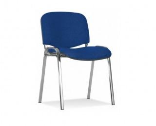 Konferenčná stolička Iso Chróm - modrá látka (C14)