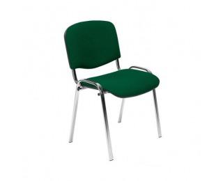 Konferenčná stolička Iso Chróm - chróm / zelená látka (C32)