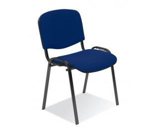 Konferenčná stolička Iso - modrá látka (C14)