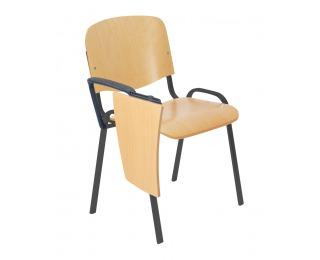 Konferenčná stolička so stolíkom Iso Wood - buk / čierna