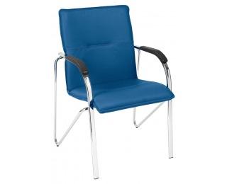 Konferenčná stolička Samba 4L Arm - modrá / chróm