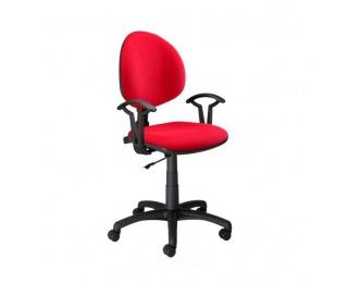 Detská stolička na kolieskach s podrúčkami Smart - červená látka (M04)