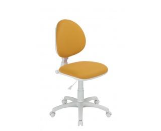 Detská stolička na kolieskach Smart White - oranžová / biela