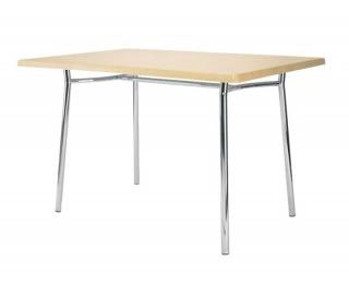 Jedálenský stôl Tiramisu Duo 120 - chróm / buk (W019)