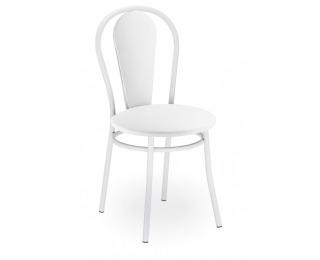 Jedálenská stolička Tulipan Plus - biela / biela ekokoža (V01)