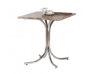 Záhradný stolík NR 7 - mramor / chróm