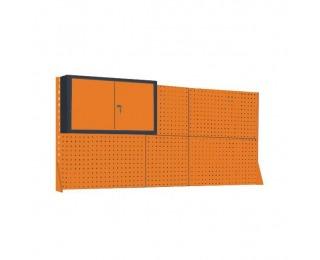 Nadstavba k pracovnému stolu so skrinkou NSS/03/2M/S - grafit / oranžová
