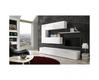 Obývacia stena Arizona - biela / biely lesk