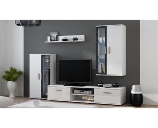 Obývacia stena Dora - biela / čierna