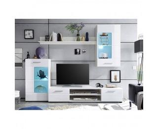 Obývacia stena Henri New OS - biela / biely lesk