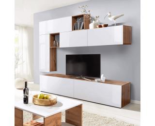 Obývacia stena Miralda - dub wotan / biely lesk