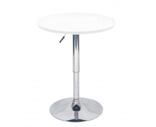 Okrúhly barový stôl Brany New - biela