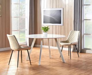 Okrúhly jedálenský stôl Elif - biela