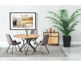 Okrúhly jedálenský stôl Pixel 2 - dub zlatý / čierna