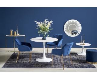 Okrúhly jedálenský stôl Slim - biela