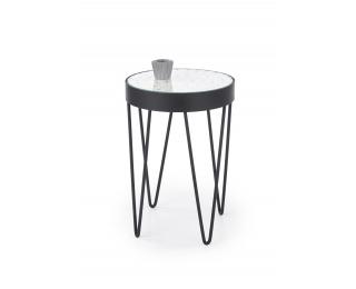 Okrúhly konferenčný stolík Naturo - biela / čierna