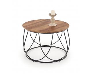 Okrúhly konferenčný stolík Nubira - orech / čierna