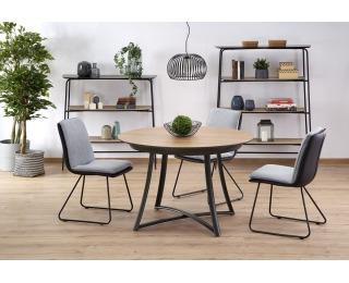 Okrúhly rozkladací jedálenský stôl Moretti - dub zlatý / čierna