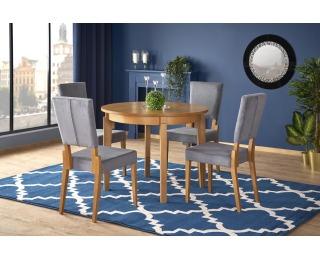 Okrúhly rozkladací jedálenský stôl Sorbus 100/200 - dub medový