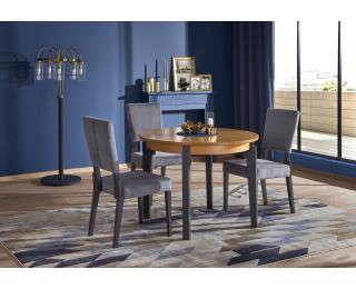 Okrúhly rozkladací jedálenský stôl Sorbus 100/200 - dub medový / grafit