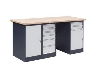 Pracovný stôl OL03/O1O6O2 - grafit / svetlosivá