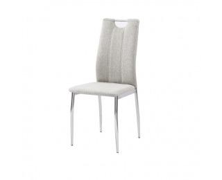 Jedálenská stolička Oliva New - béžový melír / chróm