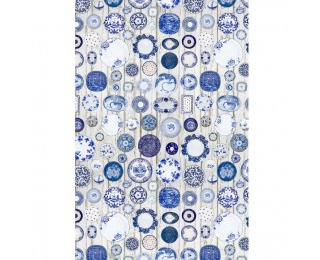 Koberec Parlin 160x230 cm - modrá / krémová