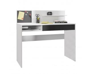 PC stôl Iman - biela / čierna