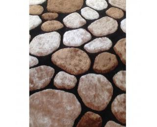 Koberec Pebble Typ 2 200x300 cm - hnedá / čierna