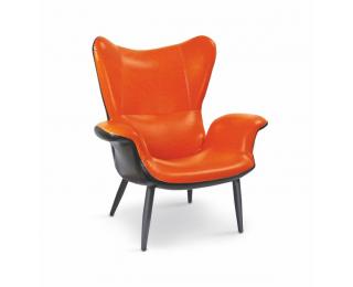 Relaxačné kreslo Pegas M - oranžová / čierna