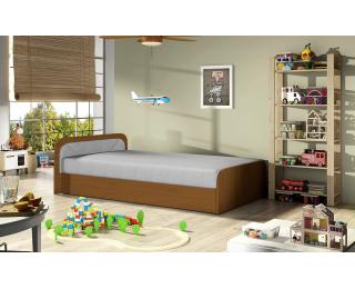 Jednolôžková posteľ s úložným priestorom Pinerolo 80 L - svetlosivá