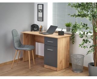 Písací stôl Elmo - dub craft / antracit