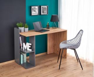 Písací stôl Fino - dub craft / antracit
