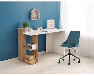 Písací stôl Fino - dub zlatý / biela