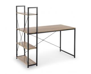 Písací stôl s regálom Narvik B1 - dub sonoma / čierna