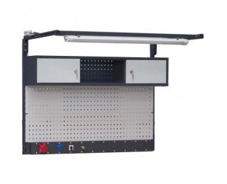 Nadstavba k pracovnému stolu PL02/3T/1S 7024/7035 P/L - grafit / svetlosivá