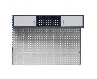 Nadstavba k pracovnému stolu so skrinkami PL02/3T/1S - grafit / svetlosivá