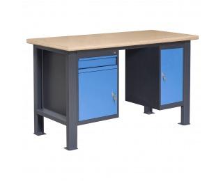 Pracovný stôl PL02L/P2P10 - grafit / modrá