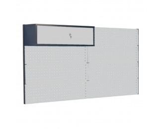 Nadstavba k pracovnému stolu so skrinkou PL03/7T/1S - grafit / svetlosivá