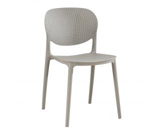 Plastová stolička Fedra - sivá
