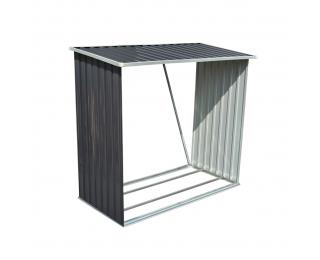 Prístrešok na drevo Woodstore 83x163x154 cm - sivá