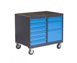 Dielenský vozík na kolieskach so zámkom PLW01G/P3P5 - grafit / modrá