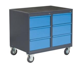 Dielenský vozík na kolieskach so zámkom PLW01G/P8P8 - grafit / modrá