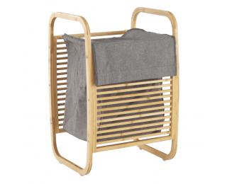 Kôš na prádlo Poko - bambus / sivá