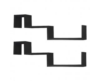 Poličky (2 ks) Fri New - čierna