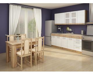 Kuchyňa Polo - craft biely / craft zlatý