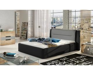 Čalúnená manželská posteľ Portima 140 - čierna / sivá