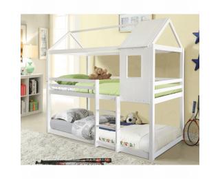 Poschodová posteľ s roštami Atrisa 90x200 cm - biela