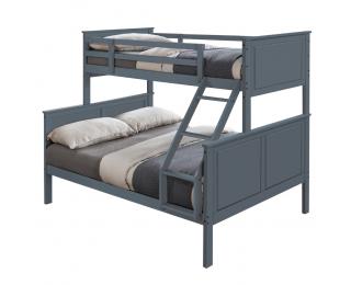 Poschodová posteľ s roštami Nevil - sivá